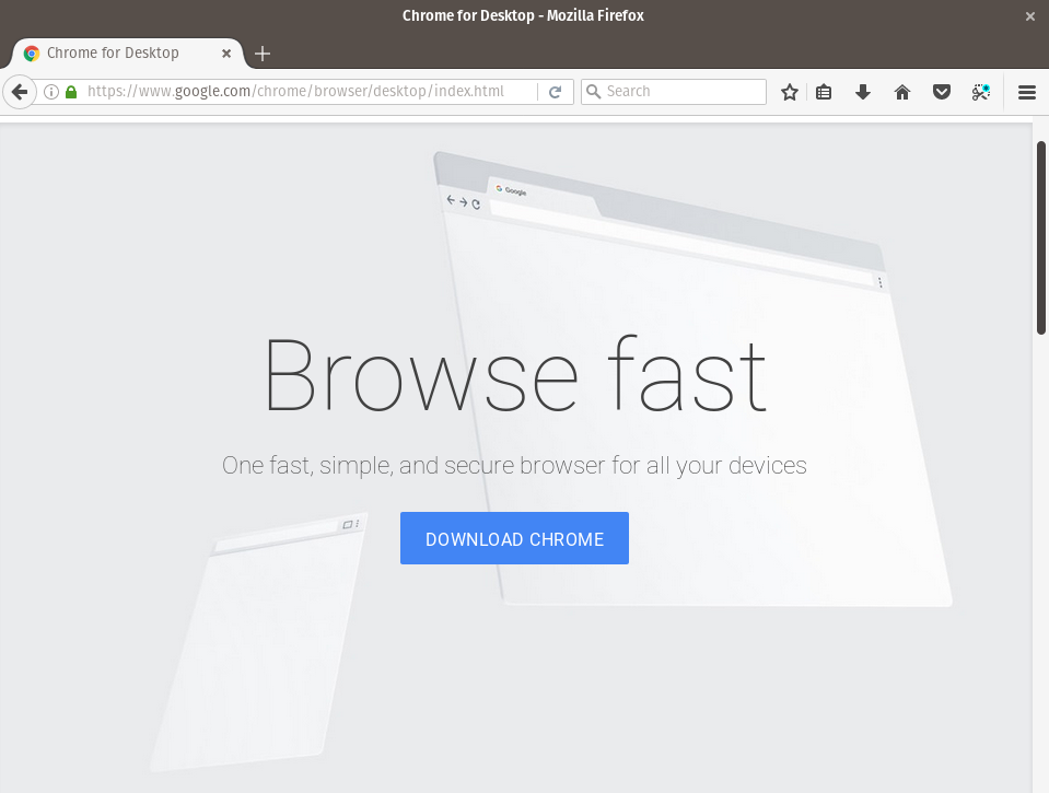 Google Chrome Download Page