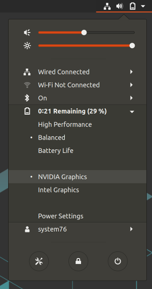 Switching Graphics in Ubuntu - System76 Support